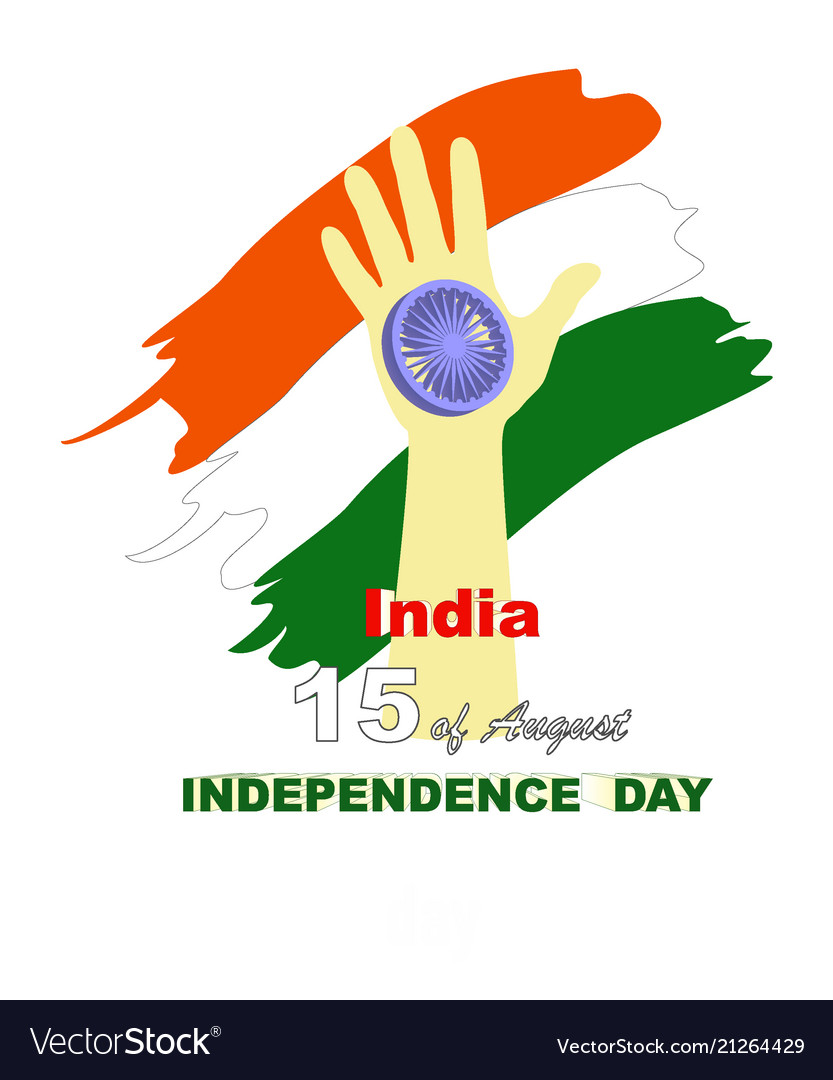 Hand with indian flag and text