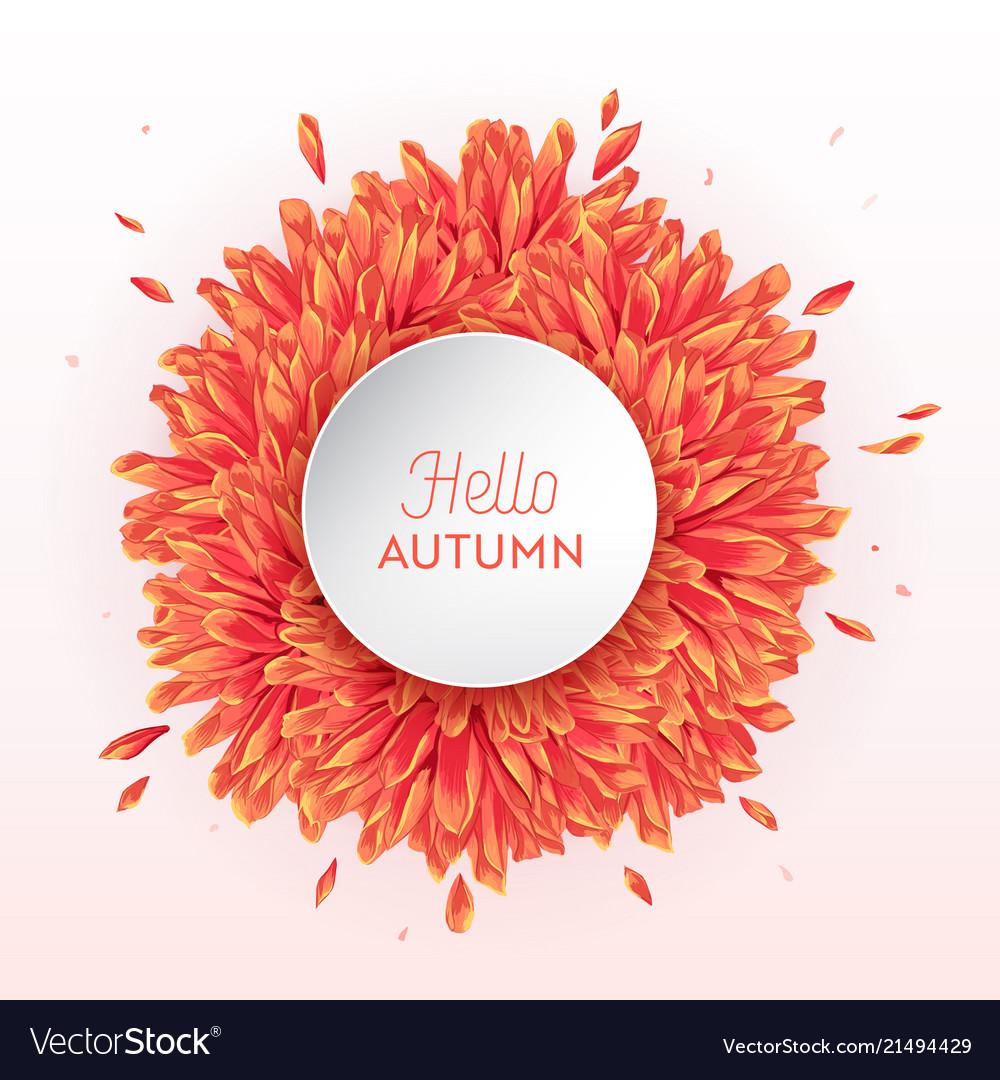 Hello autumn watercolor floral design flowers