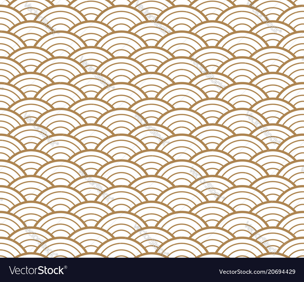 Japanese gold background and pattern wave pattern
