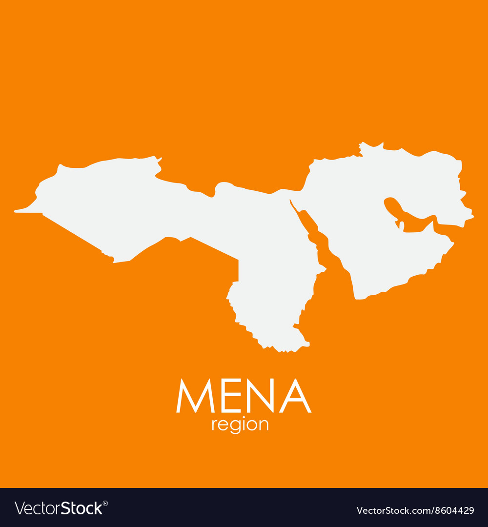 Mena Region Map vector image