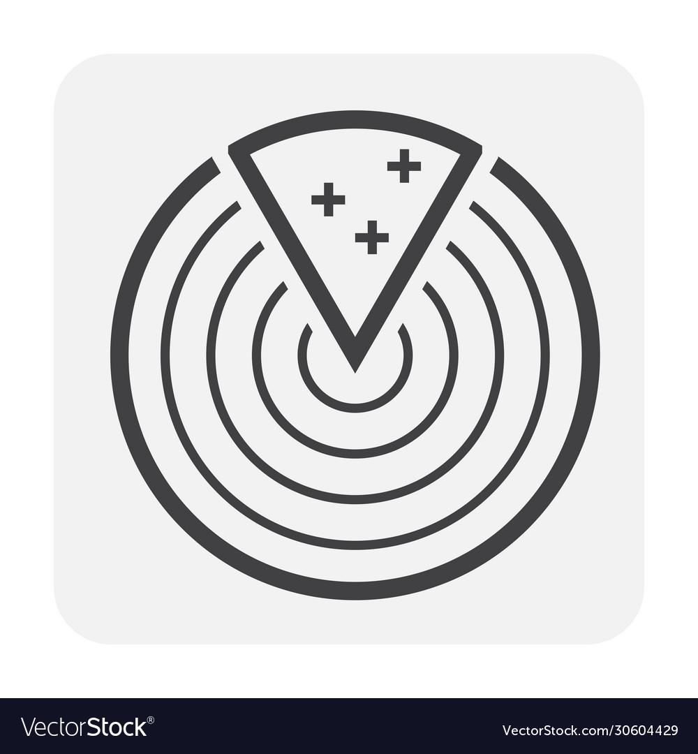 Radar icon black