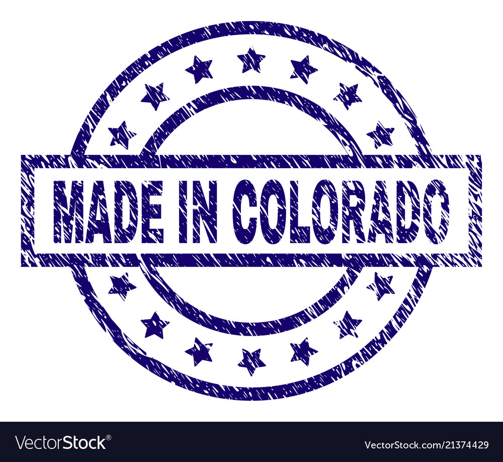 Scratched Textured Made In Colorado Stamp Seal Vector Image