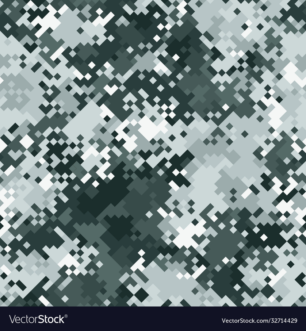 Seamless digital tundra pixel camo texture