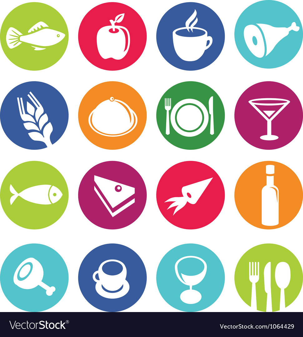 set or restaurant icons and food royalty free vector image rh vectorstock com vector food drive flyers vector food drive flyers