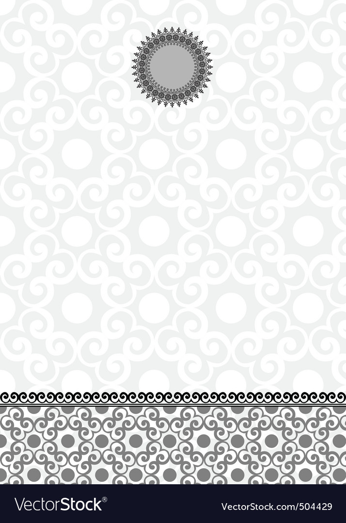 Vector ornate lace background and frame