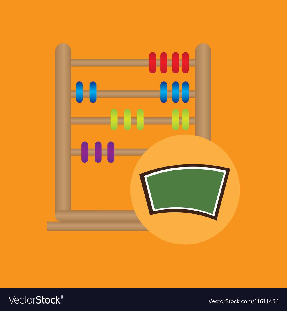 Blackboard school icon abacus