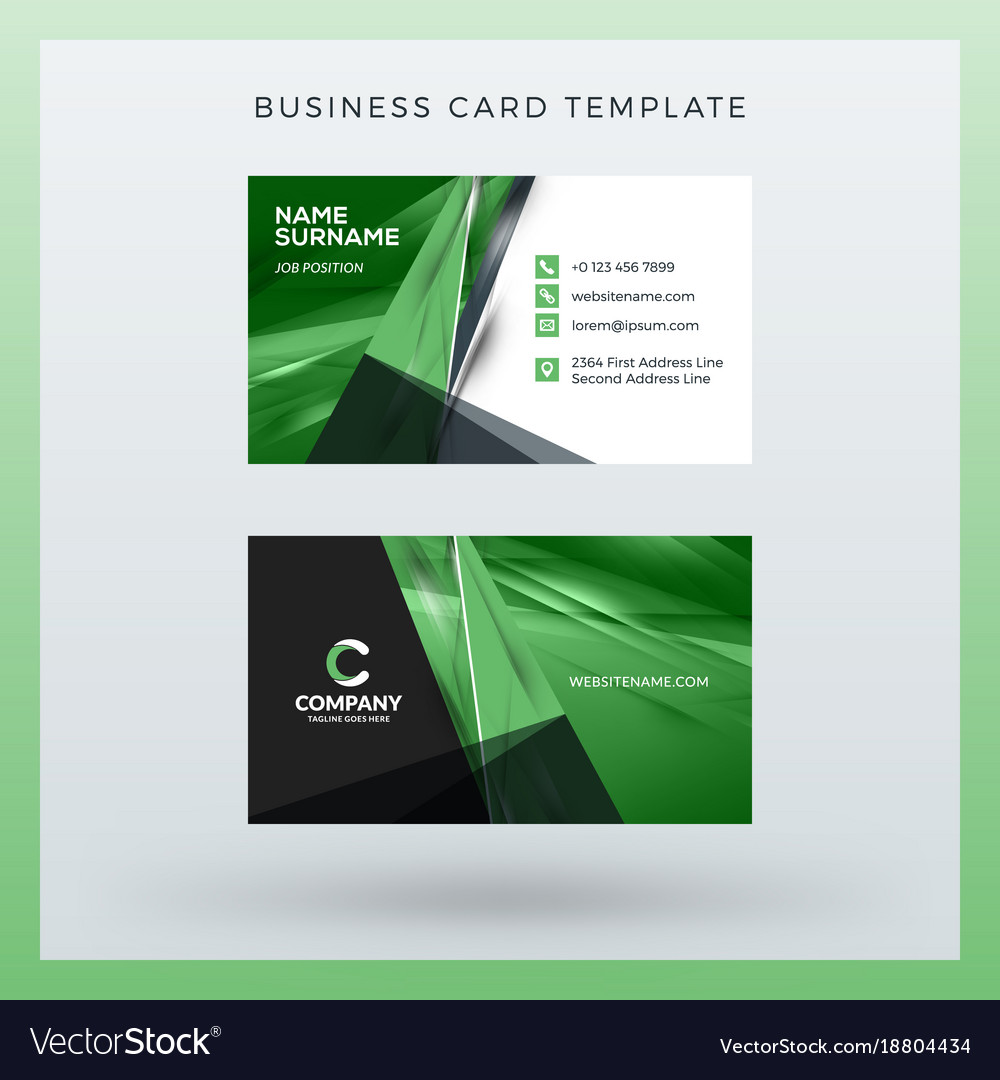 Double sided horizontal business card template vector image cheaphphosting Gallery