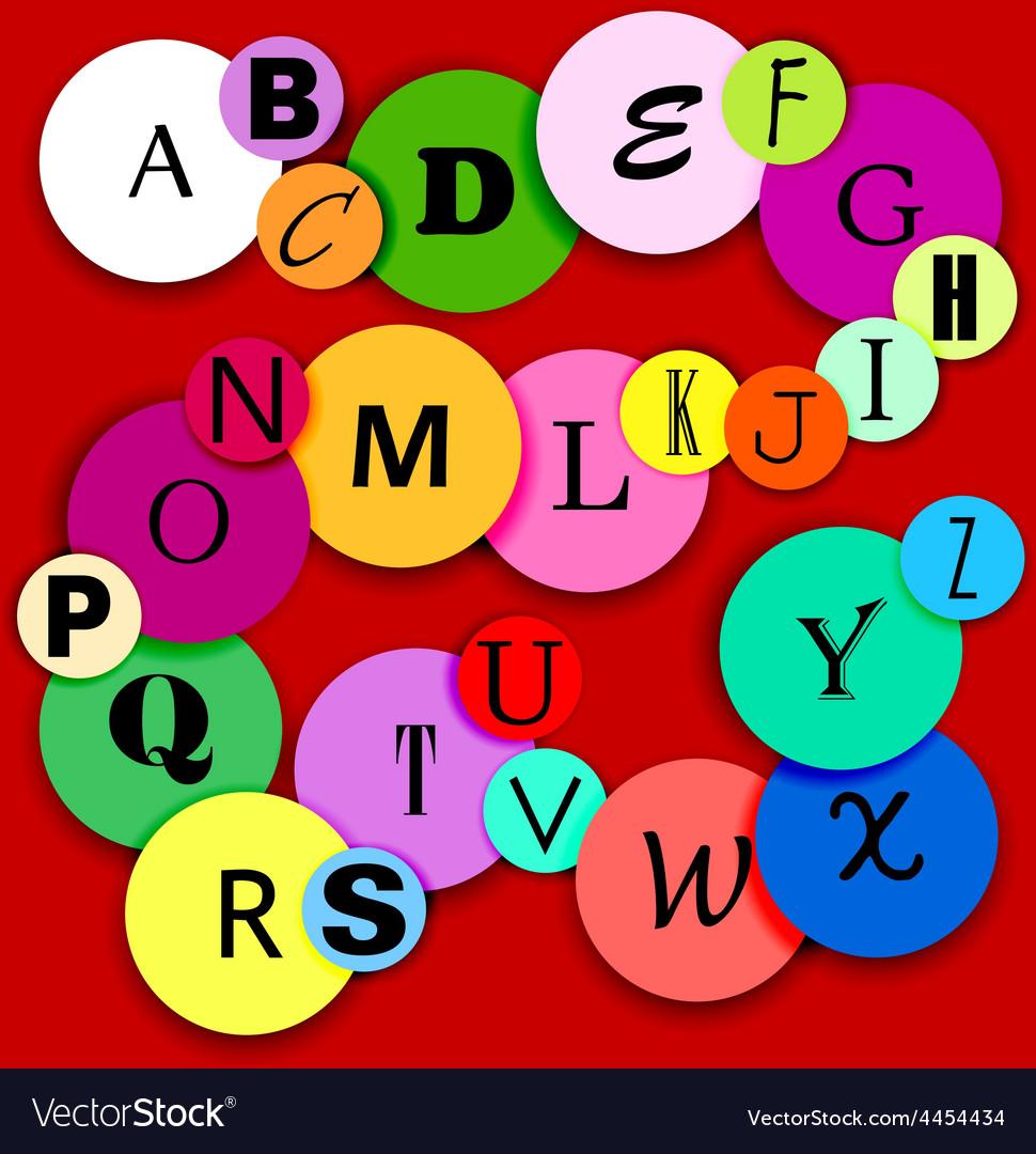 Fun alphabat on multicolor circles-2