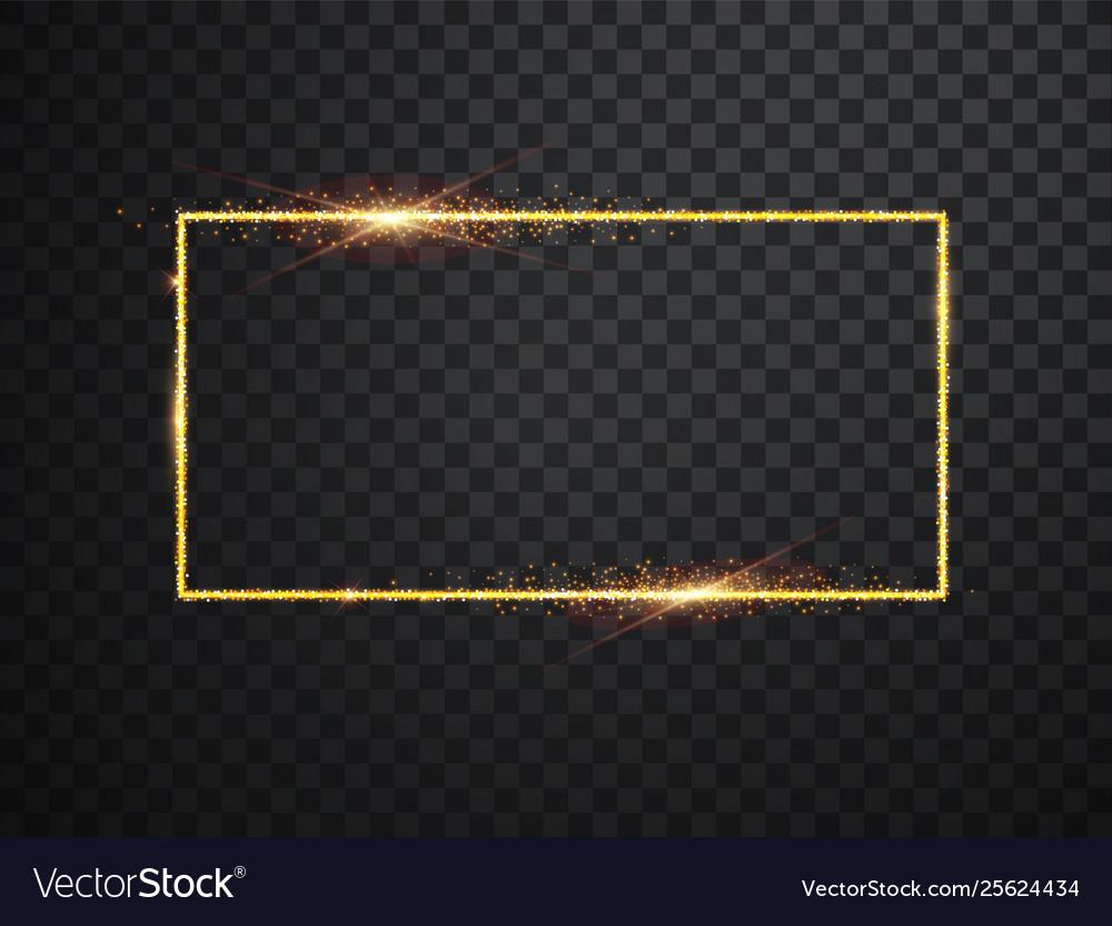 Glowing magic square frame glowing neon