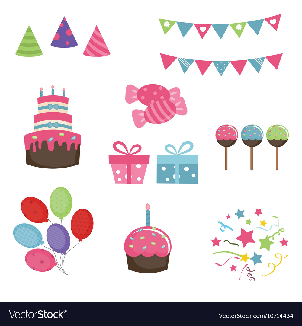 happy birthday icons Happy birthday icons set Royalty Free Vector Image happy birthday icons