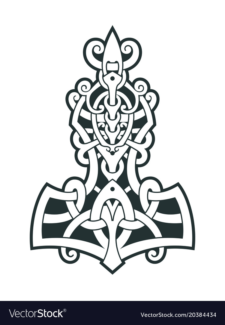 Mjollnir Thors Hammer Is An Amulet Of Vikings