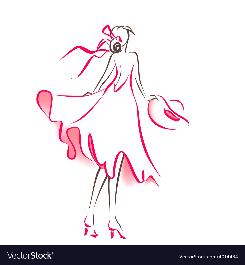Scribble silhouette of woman