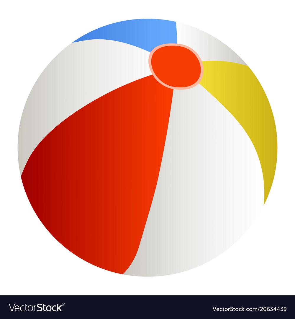 a beach ball royalty free vector image vectorstock rh vectorstock com beach ball vector image free beach ball vector images
