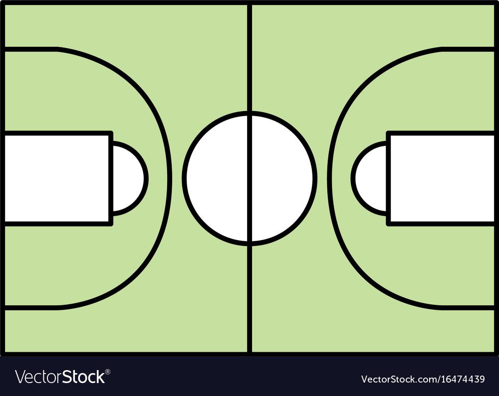 Basketball field symbol
