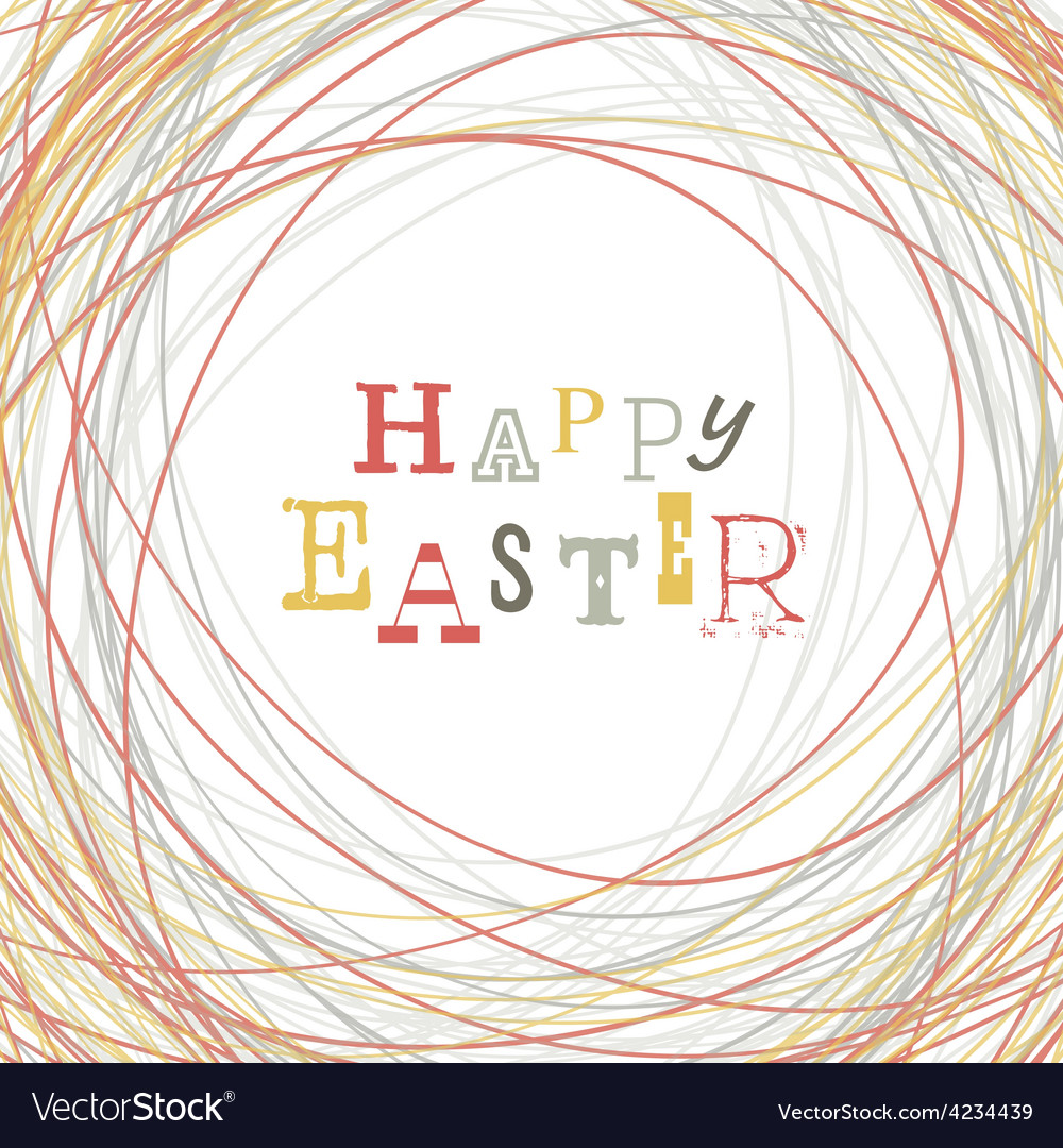 Easter greeting card nest symbolic