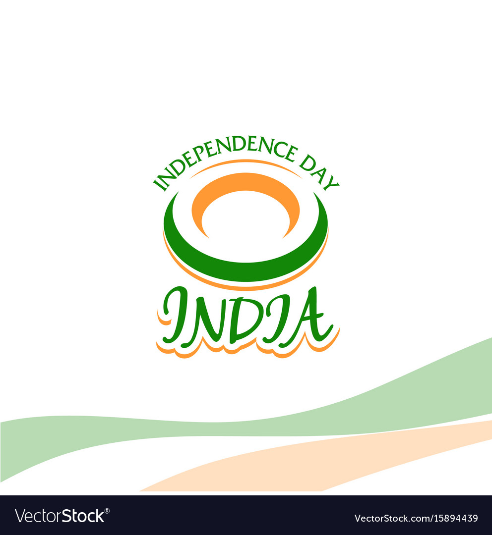 Independence day of india from the british empire vector image