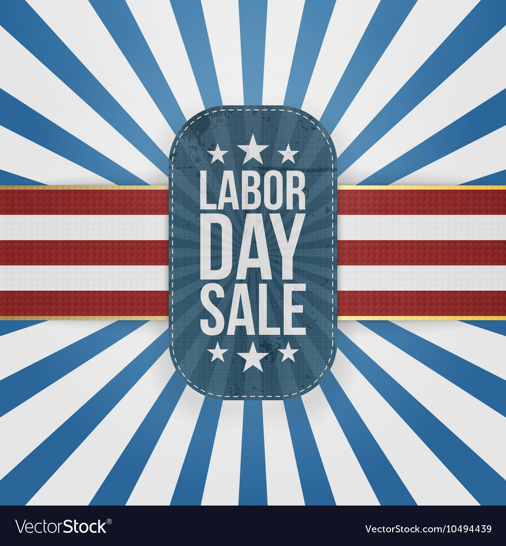 Labor Day Sale patriotic Badge with USA Colors vector image