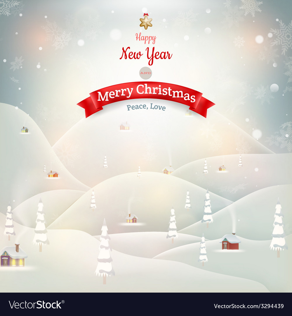 Merry Christmas Landscape EPS 10