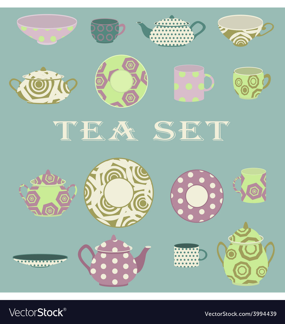 Tee set vector image