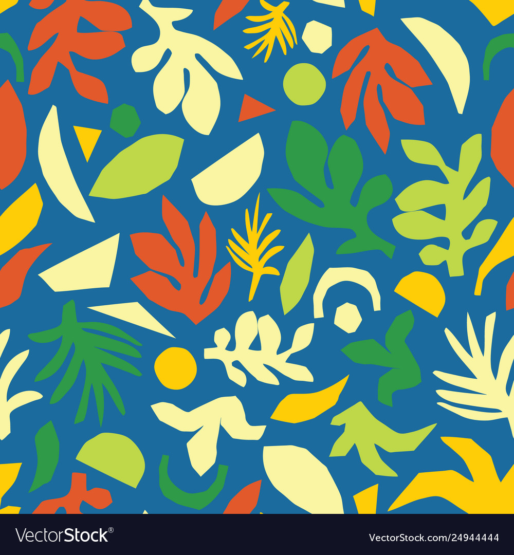 Abstract summer leaves seamless background