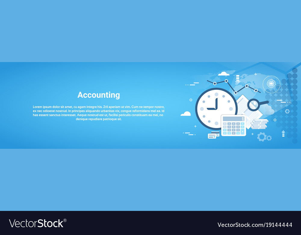 Accounting audit business horizontal web banner