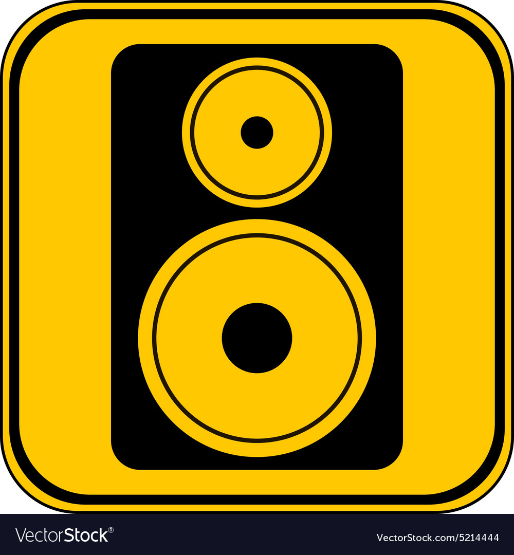 Audio speaker button vector image