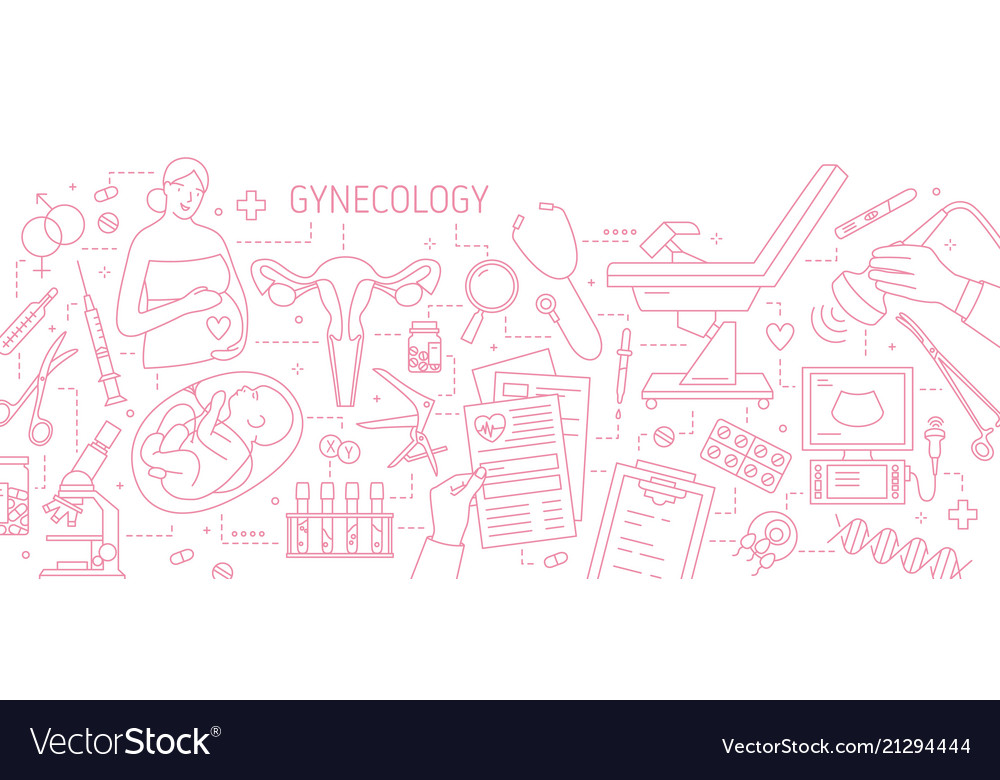 Banner with pregnant woman baby in womb uterus vector image ccuart Gallery