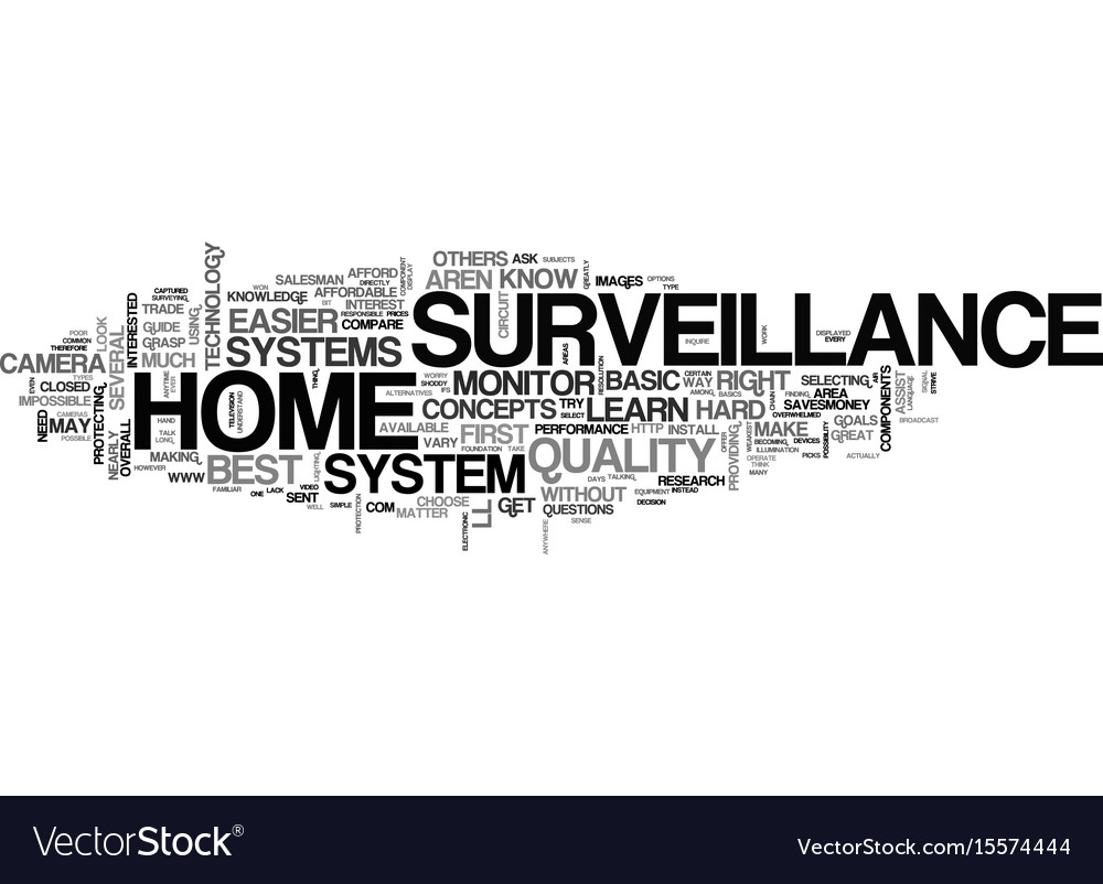 Basic knowledge about home surveillance text word