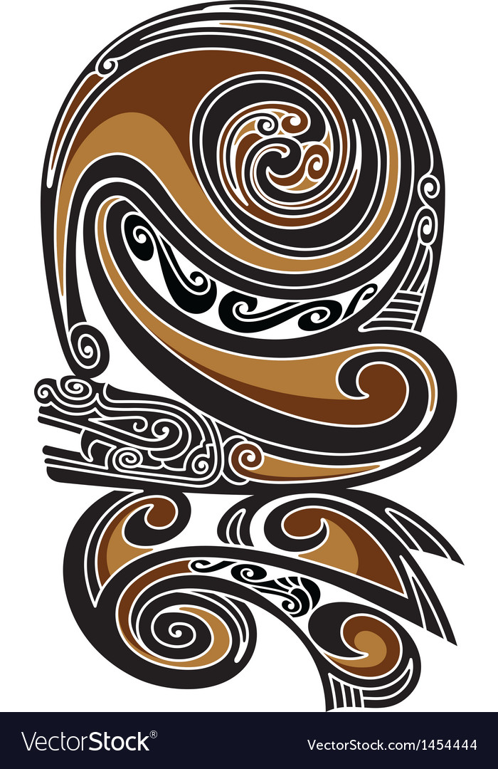 Borneo tattoo pattern