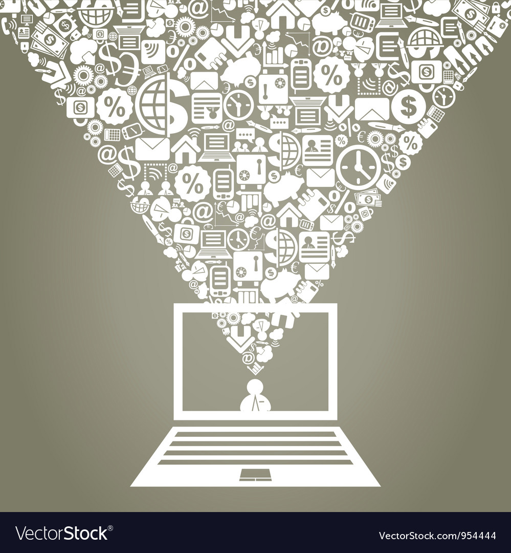 Business Laptop vector image
