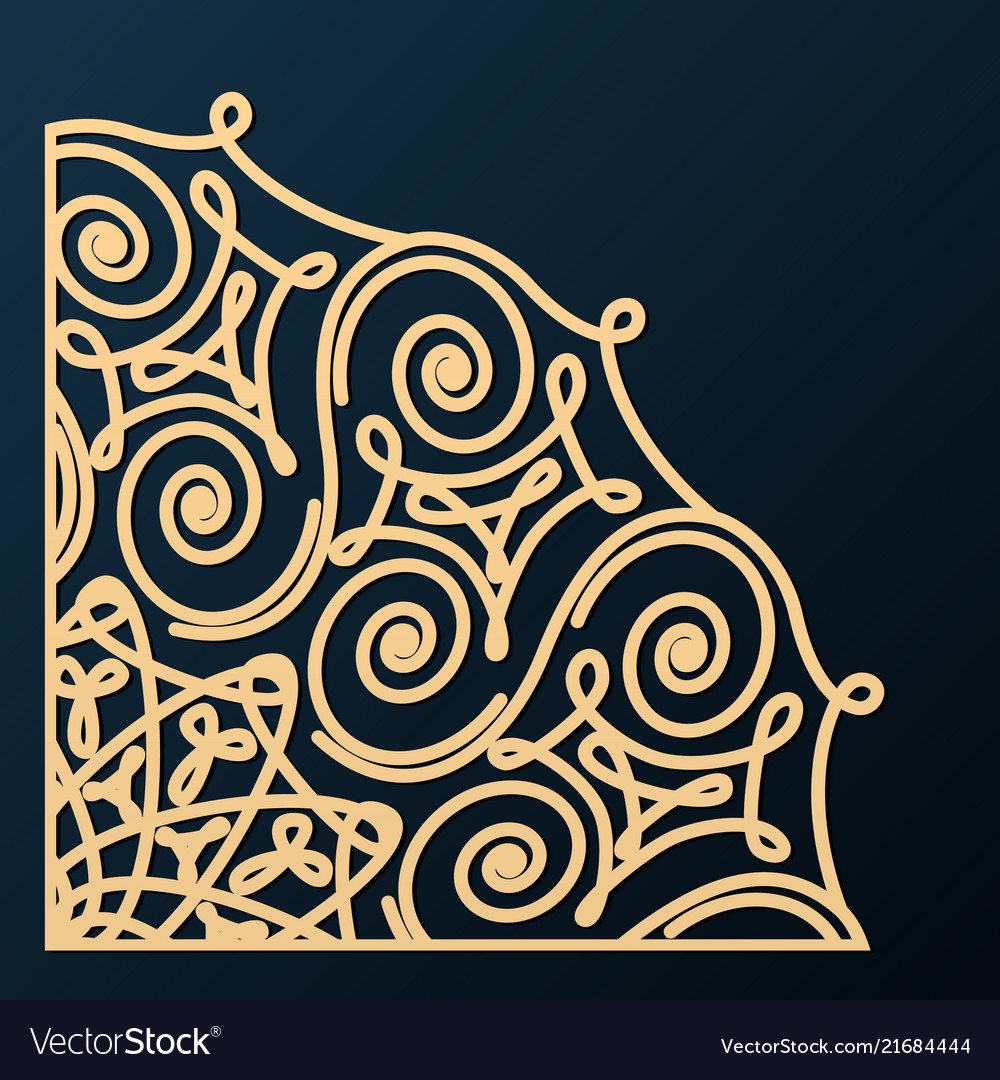 Decorative corner ornament design element