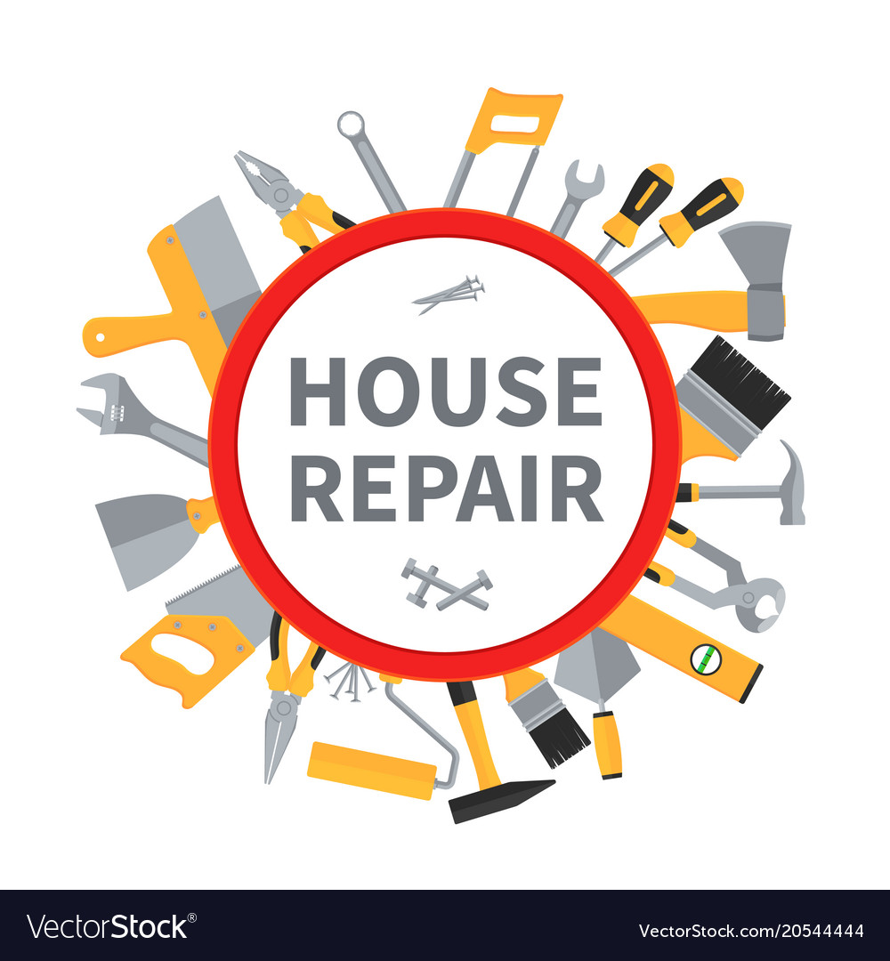 House repair and remodeling background with