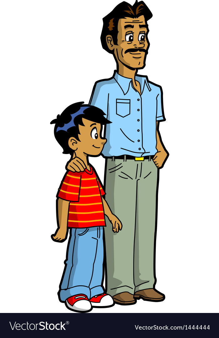 Indian Father And Son Royalty Free Vector Image-4079