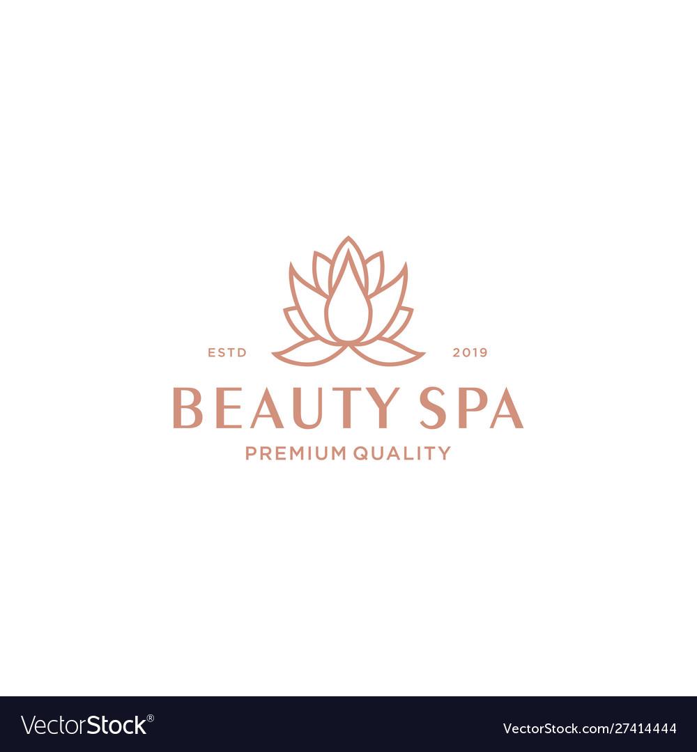 Lotus spa logo design