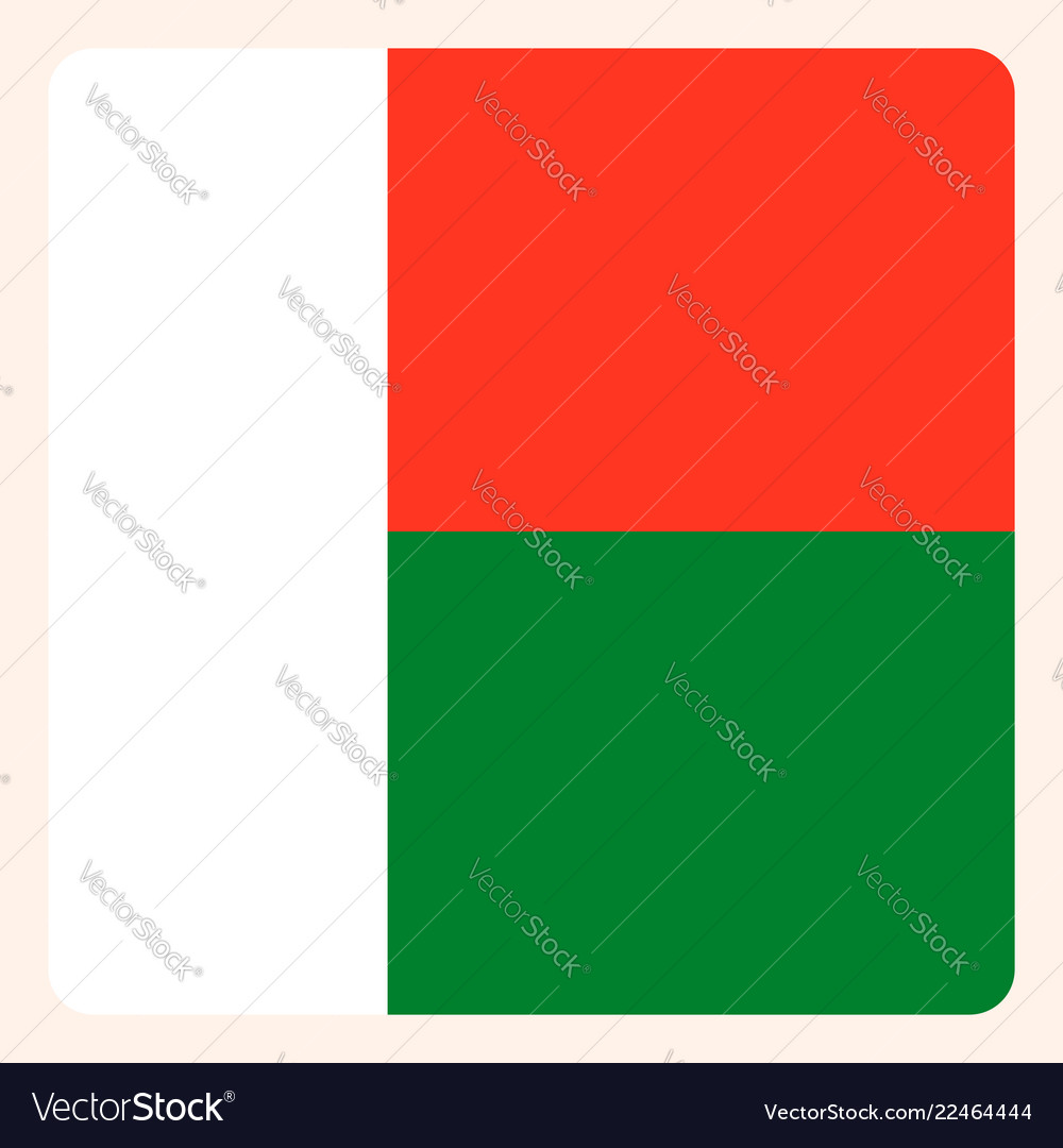 Madagascar square flag button social media
