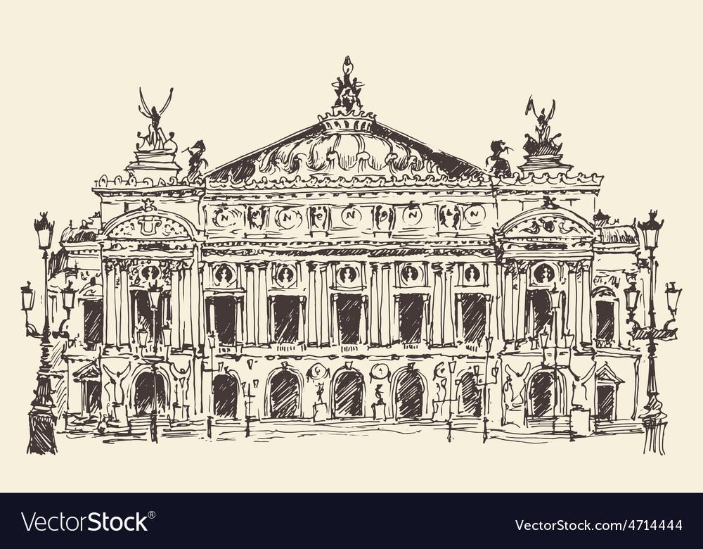 Paris France Palais Garnier Paris opera house vector image