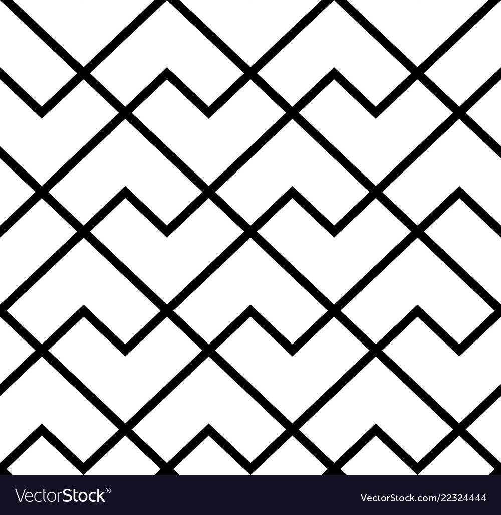 The geometric pattern with stripes seamless