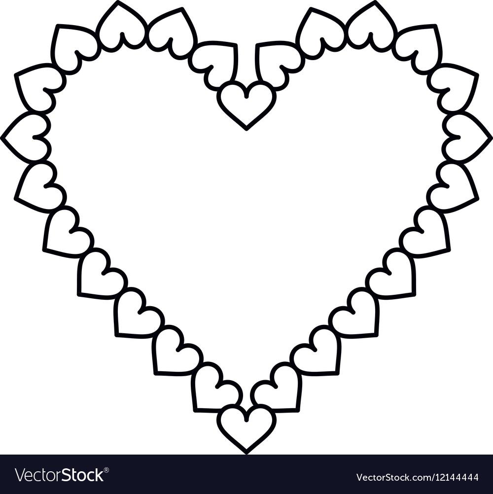 Valentine day heart decorative outline