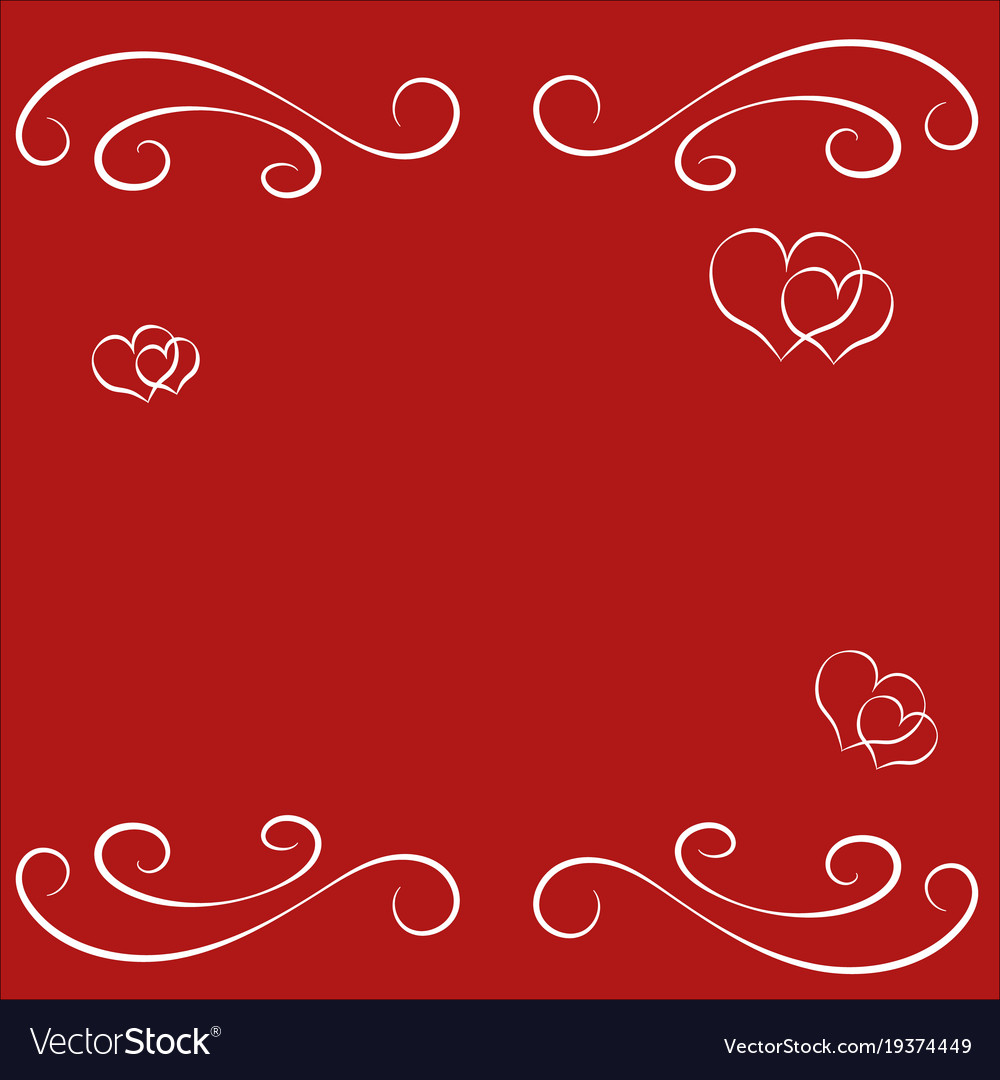 Abstract happy valentine day empty border frame Vector Image