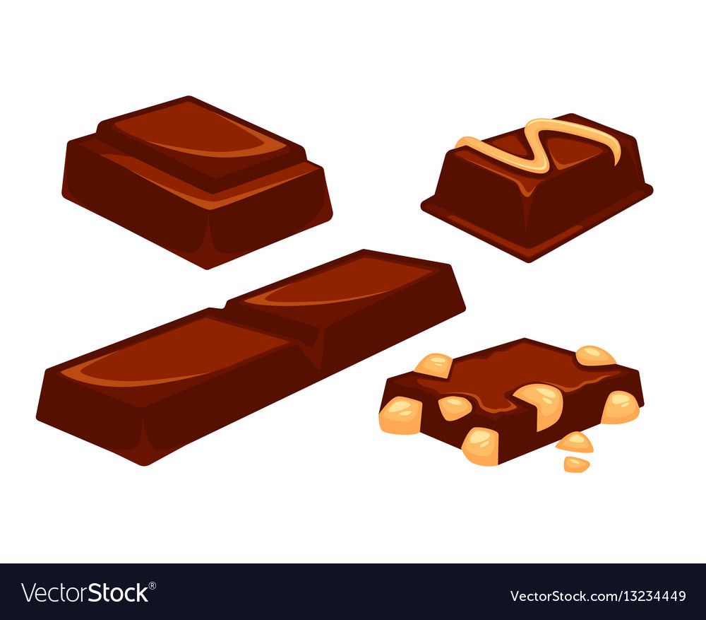Chocolate bars and pieces dessert bar milk black