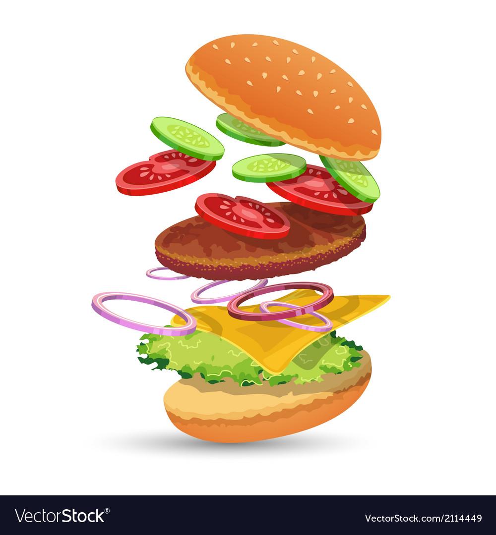 Hamburger ingredients emblem