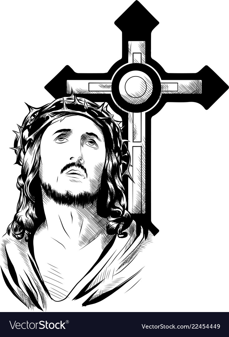 Jesus christ face art design