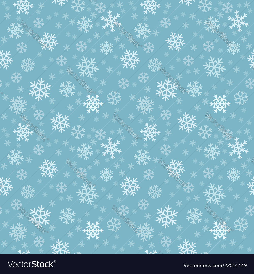 Seamless pattern with snowflakes for background