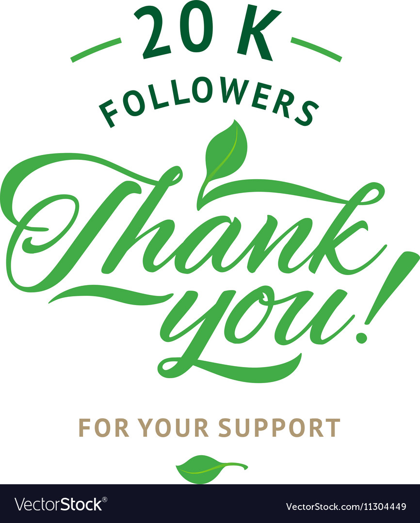 Thank you 20 000 followers card ecology