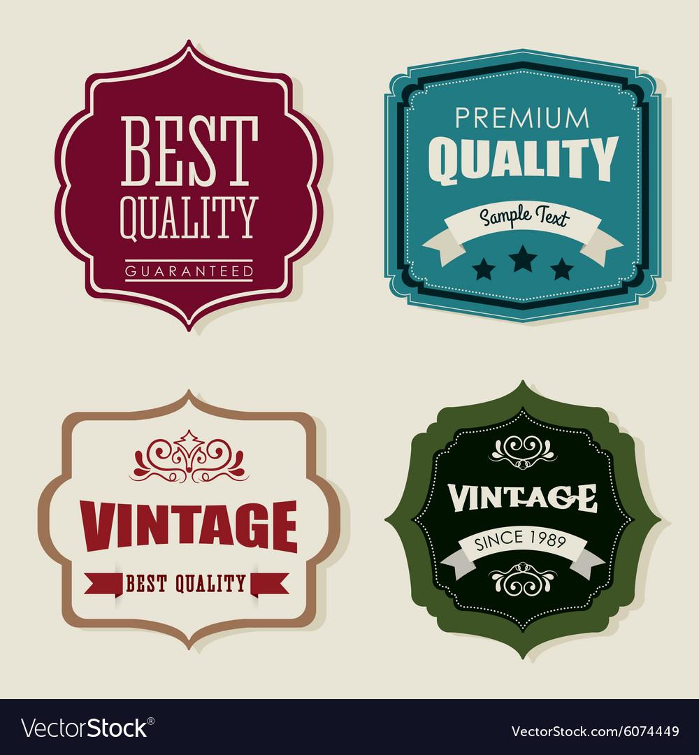 Vintage and retro label design