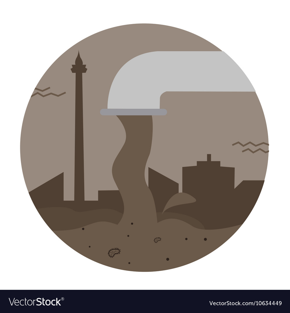 Waste sewage water pollution pipe city