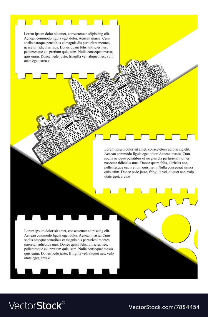 Brochure with urban landscape vector image