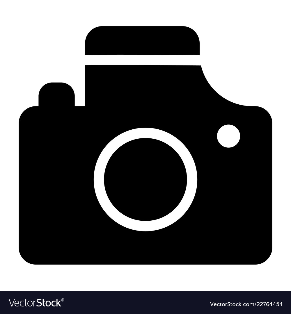 Camera icon simple style