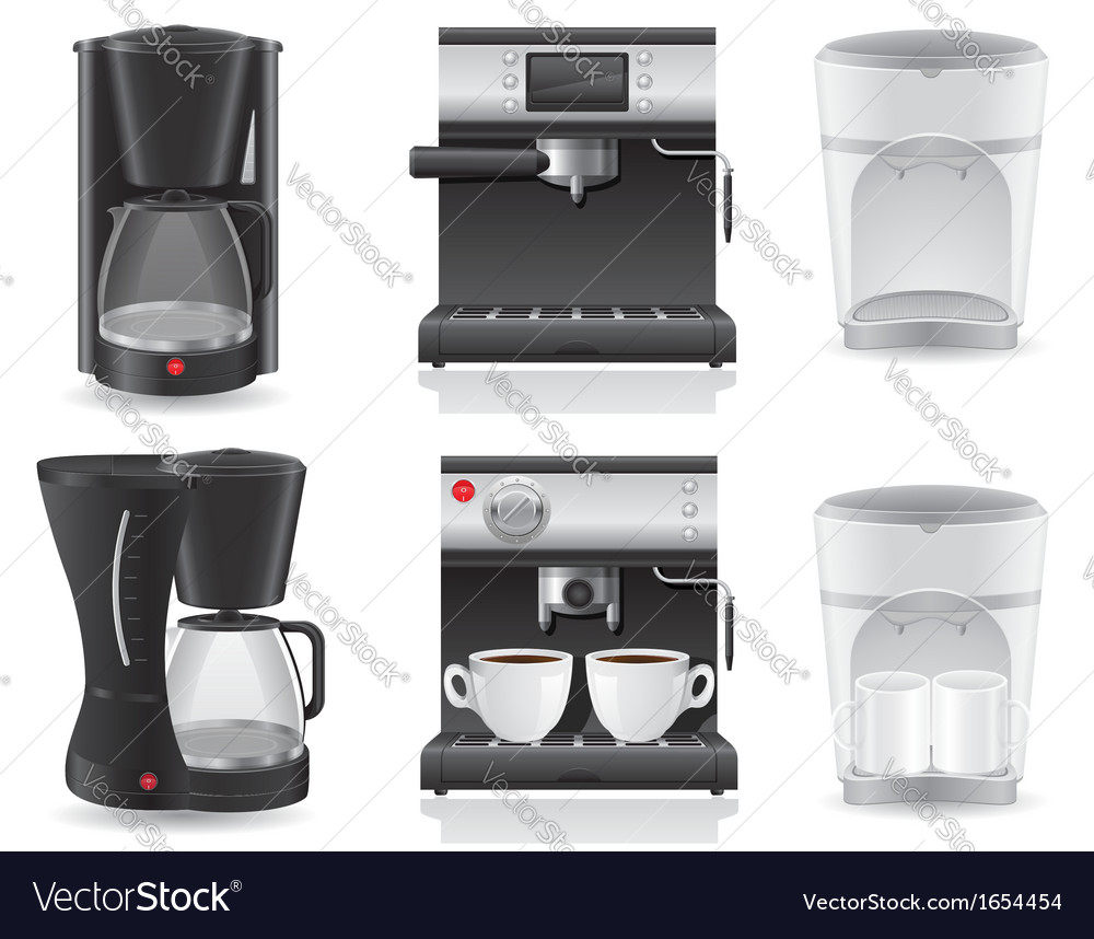 Coffee maker 07 vector image