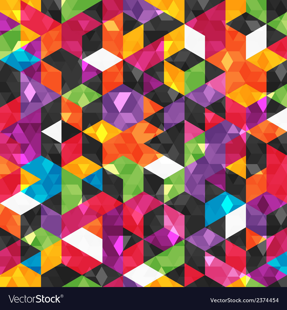 Colorful abstract pattern with geometric shapes